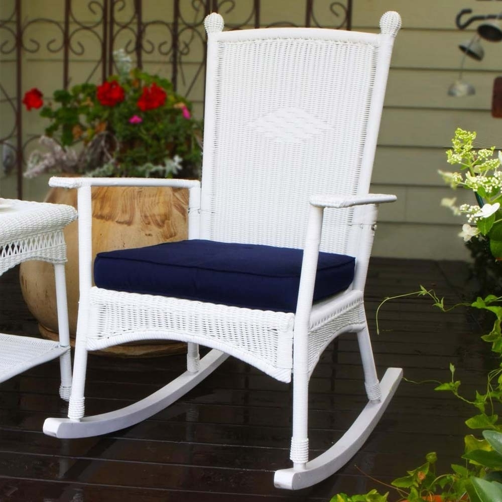 Most Recently Released Indoor Wicker Rocking Chairs Regarding Tortuga Outdoor Portside Classic Wicker Rocking Chair – Wicker (View 9 of 15)