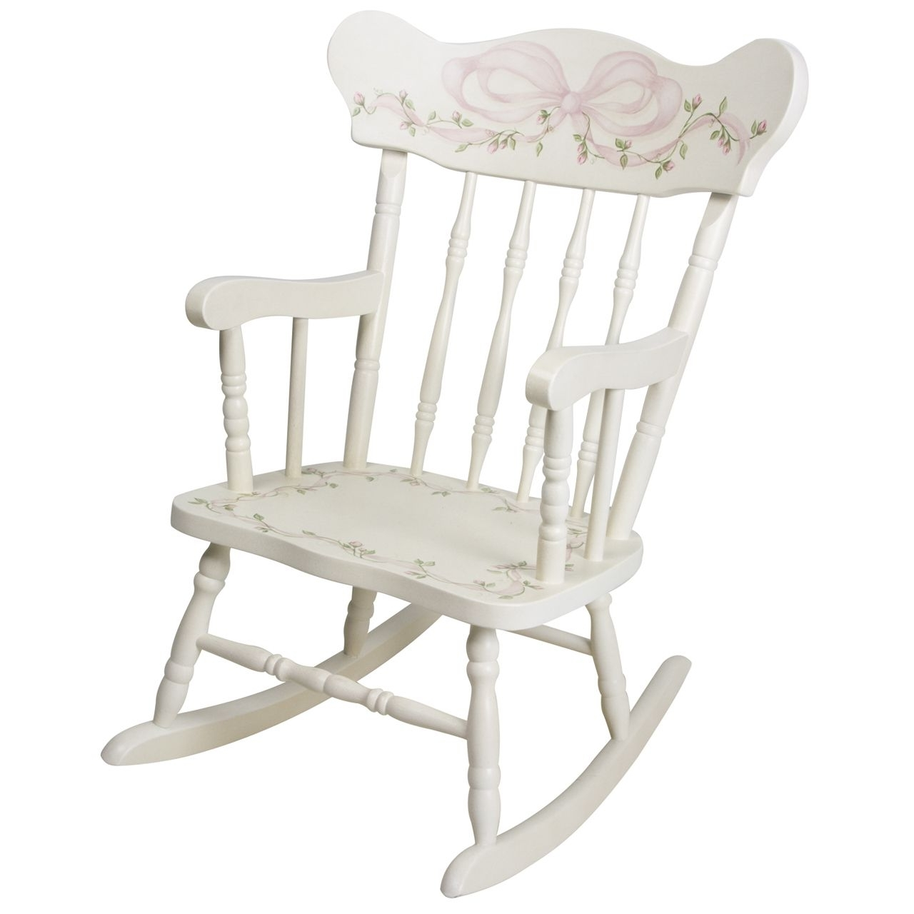 Most Up To Date Afk Furniture – Child's Rocking Chair Ribbons And Roses, $ (View 6 of 15)
