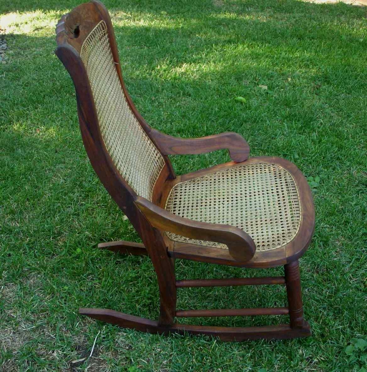 Most Up To Date Antique Wicker Rocking Chairs With Springs Intended For Antique Cane Rocking Chair – Image Antique And Candle Victimassist (View 11 of 15)