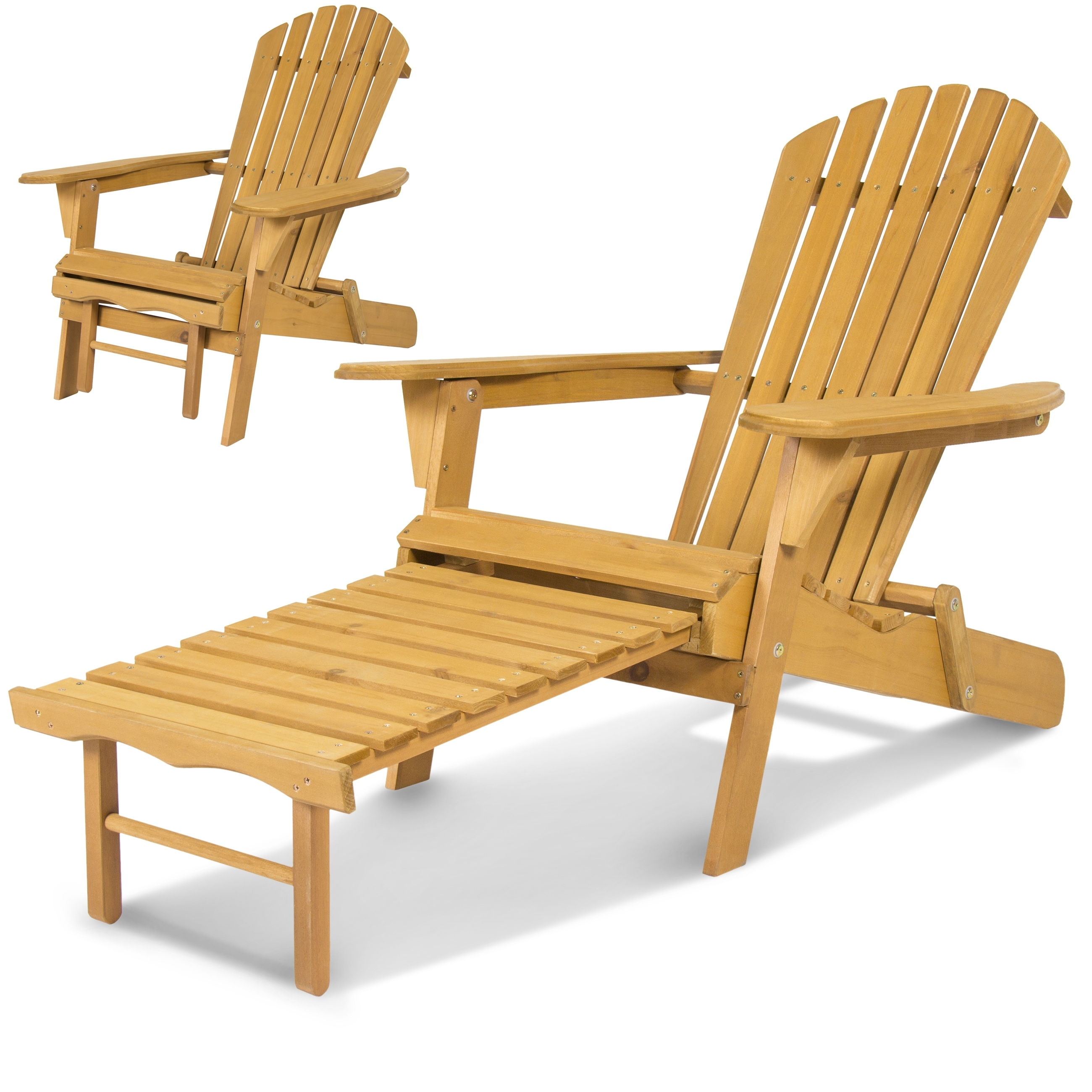 Most Up To Date Best Choice Products Outdoor Wood Adirondack Chair Foldable W/ Pull In Patio Rocking Chairs With Ottoman (View 10 of 15)