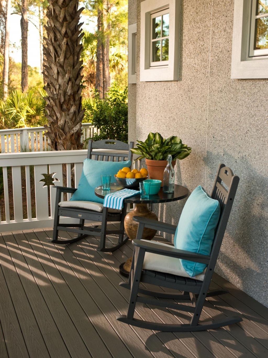 Most Up To Date Furniture: Front Porch Chairs Beautiful Coastal Front Porch With In Rocking Chairs For Front Porch (View 5 of 15)