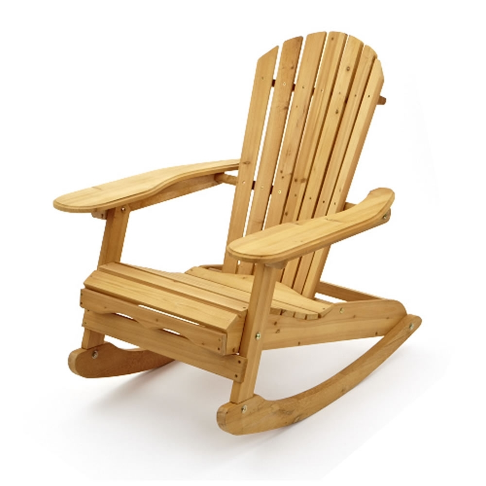 Most Up To Date Garden Patio Wooden Adirondack Rocking Chair With Regard To Rocking Chairs For Garden (View 7 of 15)