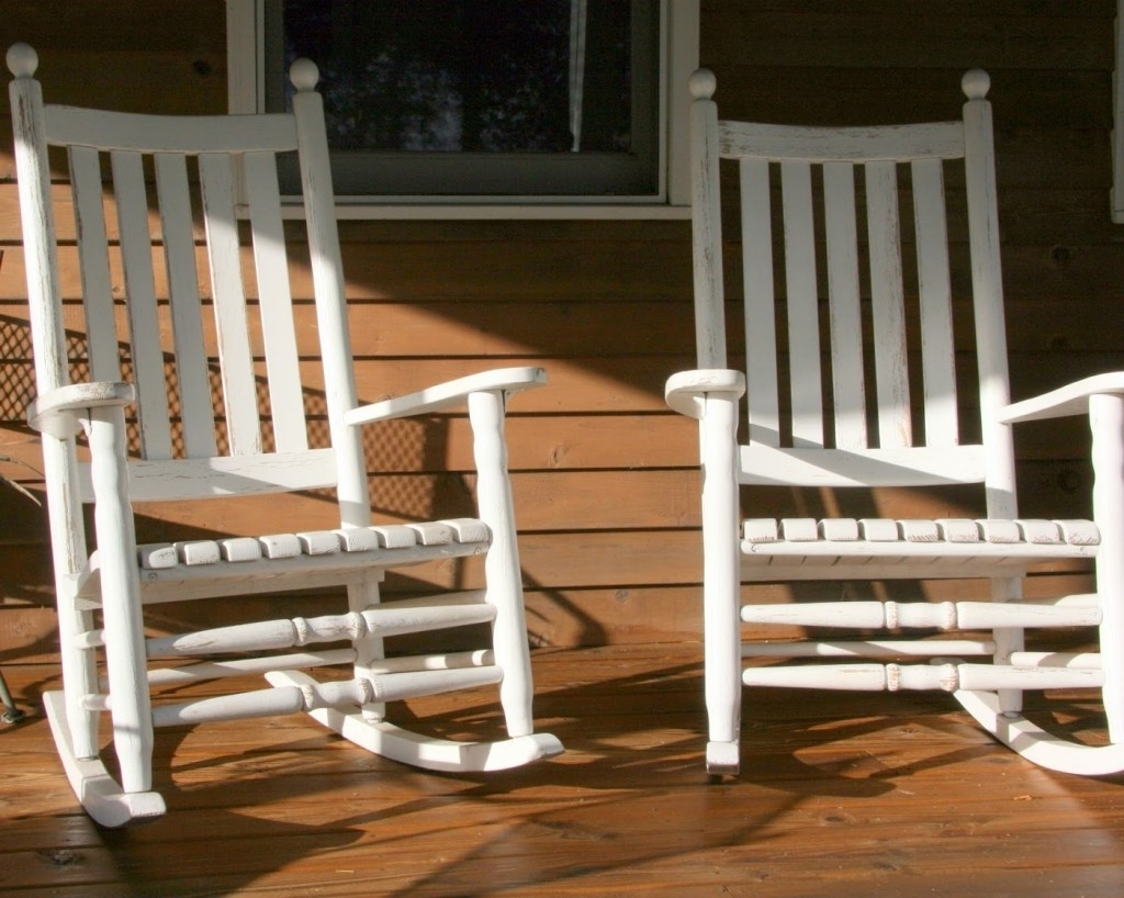 Most Up To Date Rocking Chairs For Front Porch Within White Front Porch Rocking Chairs — Front Porch Light : Simplest (View 6 of 15)