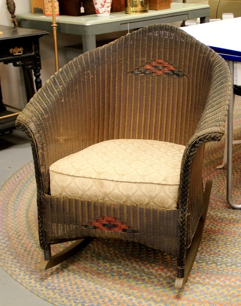 Most Up To Date Vintage Wicker Rocking Chair Ideas : Best Furniture Decor – All Within Vintage Wicker Rocking Chairs (View 6 of 15)