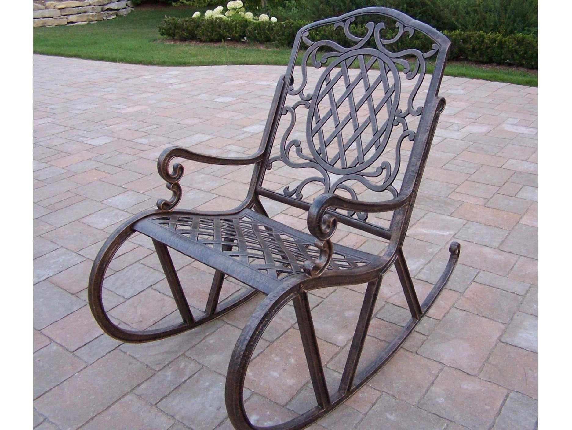 Newest Outdoor Patio Rocking Chairs – Torino2017 With Regard To Outdoor Patio Metal Rocking Chairs (View 9 of 15)