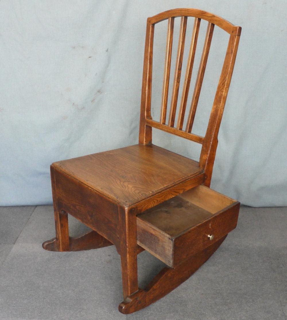 Newest Rocking Chairs For Nursing Regarding Elm Nursing Rocking Chair – Antiques Atlas (View 9 of 15)
