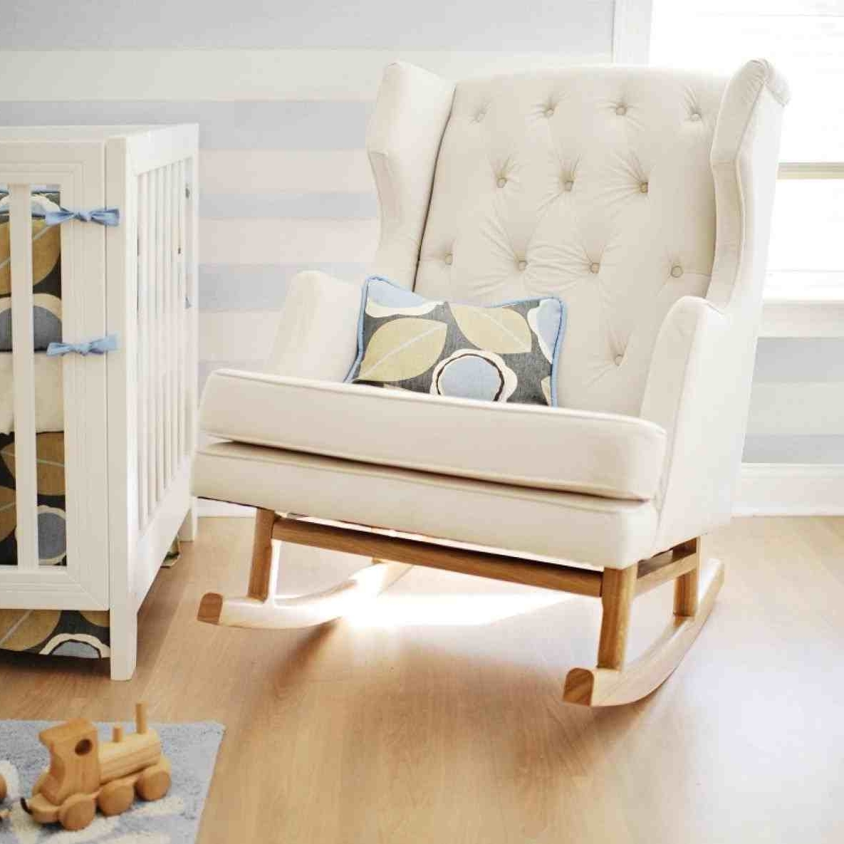 Newest Rocking Chairs For Small Spaces Intended For Adorable Modern Nursery Beautiful Pink Color Rhkevinjohnsonmayorcom (View 11 of 15)