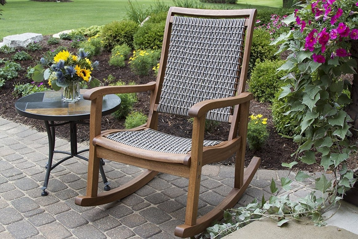 Newest The Best Styles Of Outdoor Rocking Chairs (Styles, Designs, Options Intended For Brown Wicker Patio Rocking Chairs (View 3 of 15)