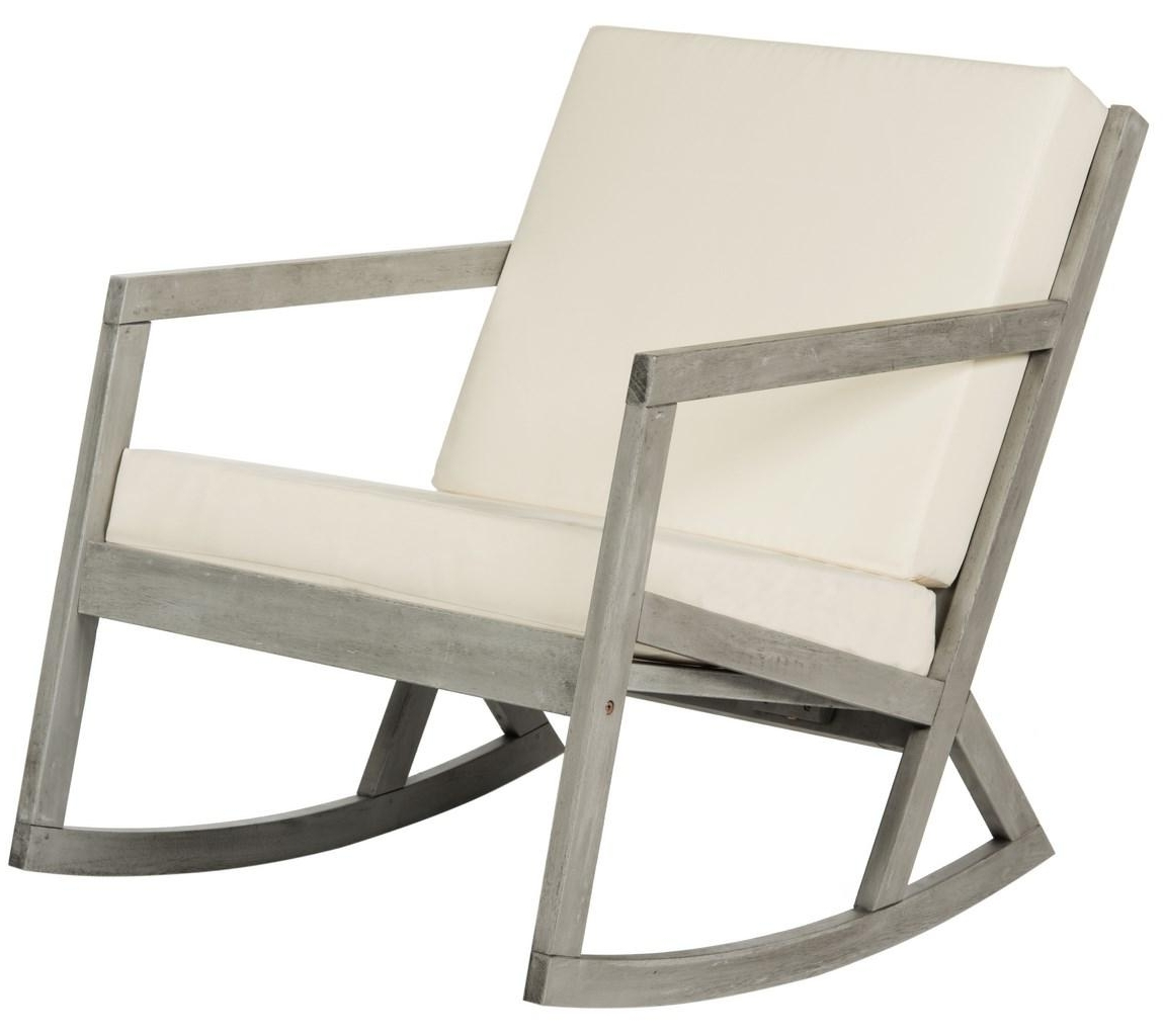 Outdoor Rocker – Safavieh With Regard To Trendy Padded Patio Rocking Chairs (View 11 of 15)