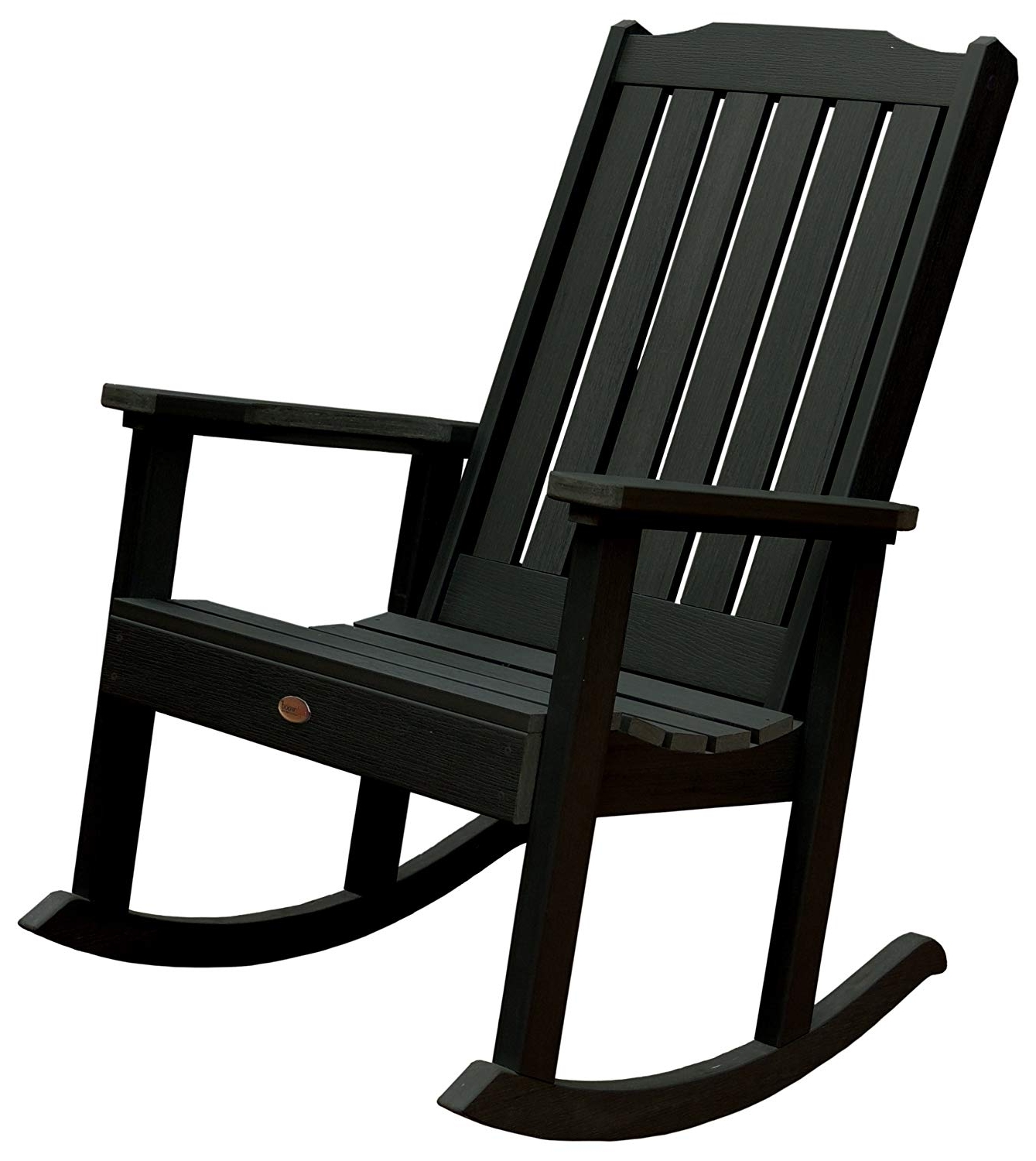 Outdoor Rocking Chairs Regarding Preferred Amazon : Highwood Lehigh Rocking Chair, Charleston Green : Patio (View 6 of 15)