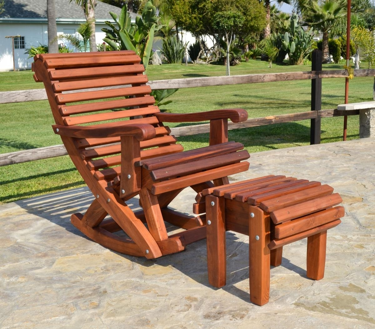 Outdoor Rocking Chairs Style — Nyctophilia Design : Ideas For Paint Inside Fashionable Rocking Chair Outdoor Wooden (View 5 of 15)