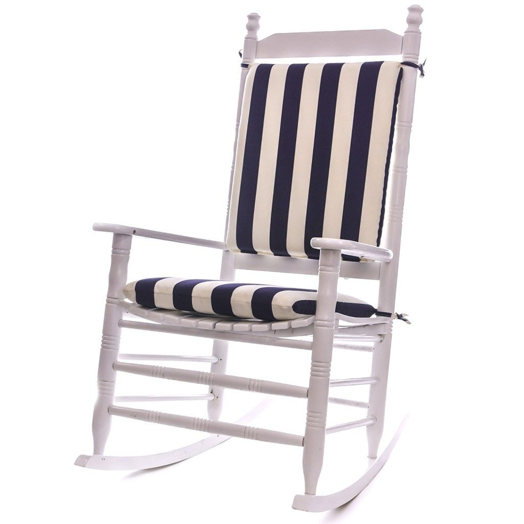Outdoor Rocking Chairs With Cushions For Most Up To Date Cool Great Outdoor Rocking Chair Cushions 76 With Additional (View 2 of 15)