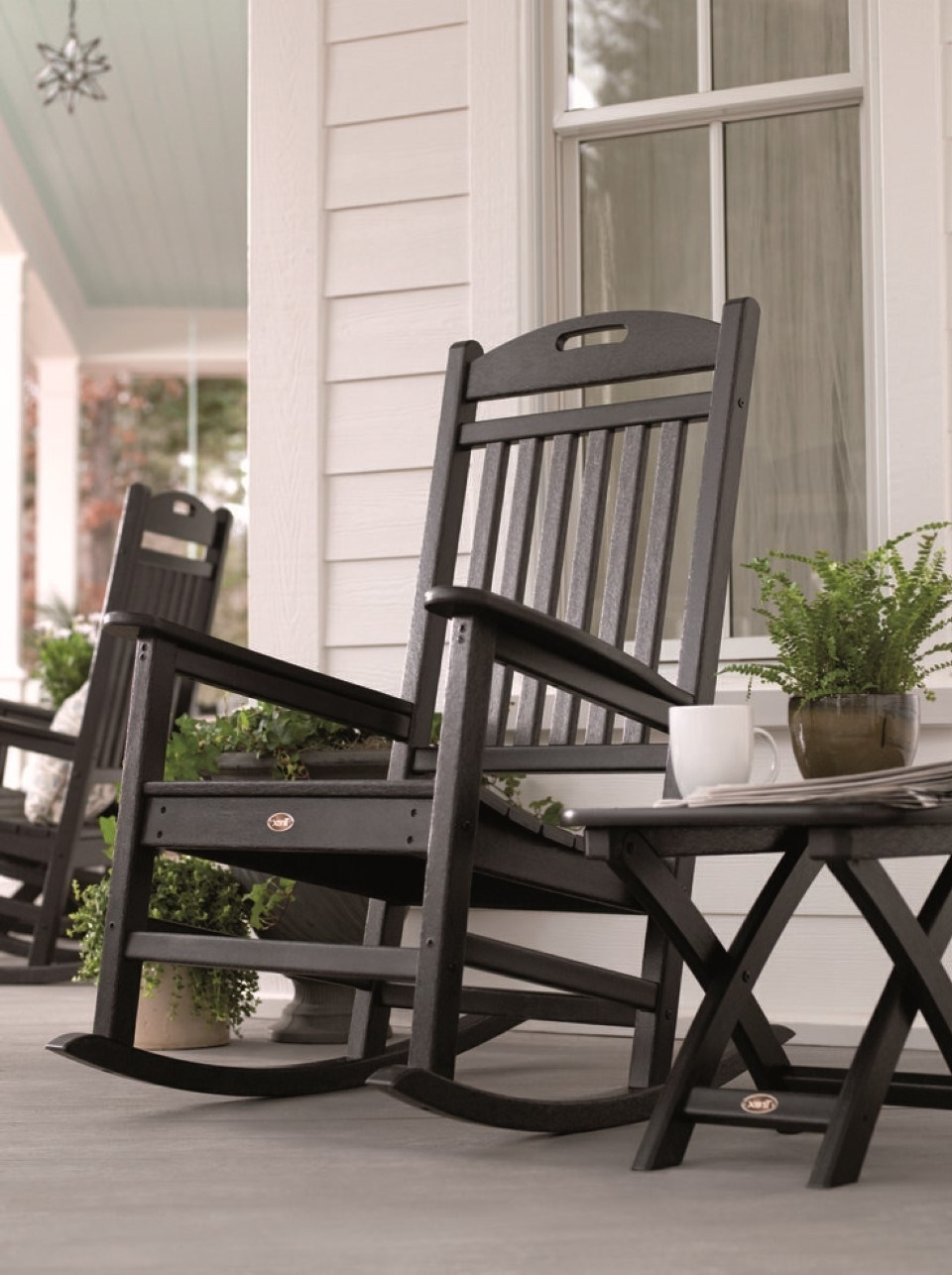 Outdoor Vinyl Rocking Chairs Throughout Widely Used Winsome Most Outdoor Rocking Chair Outdoor Rocker Lowes Porch Rocker (View 9 of 15)