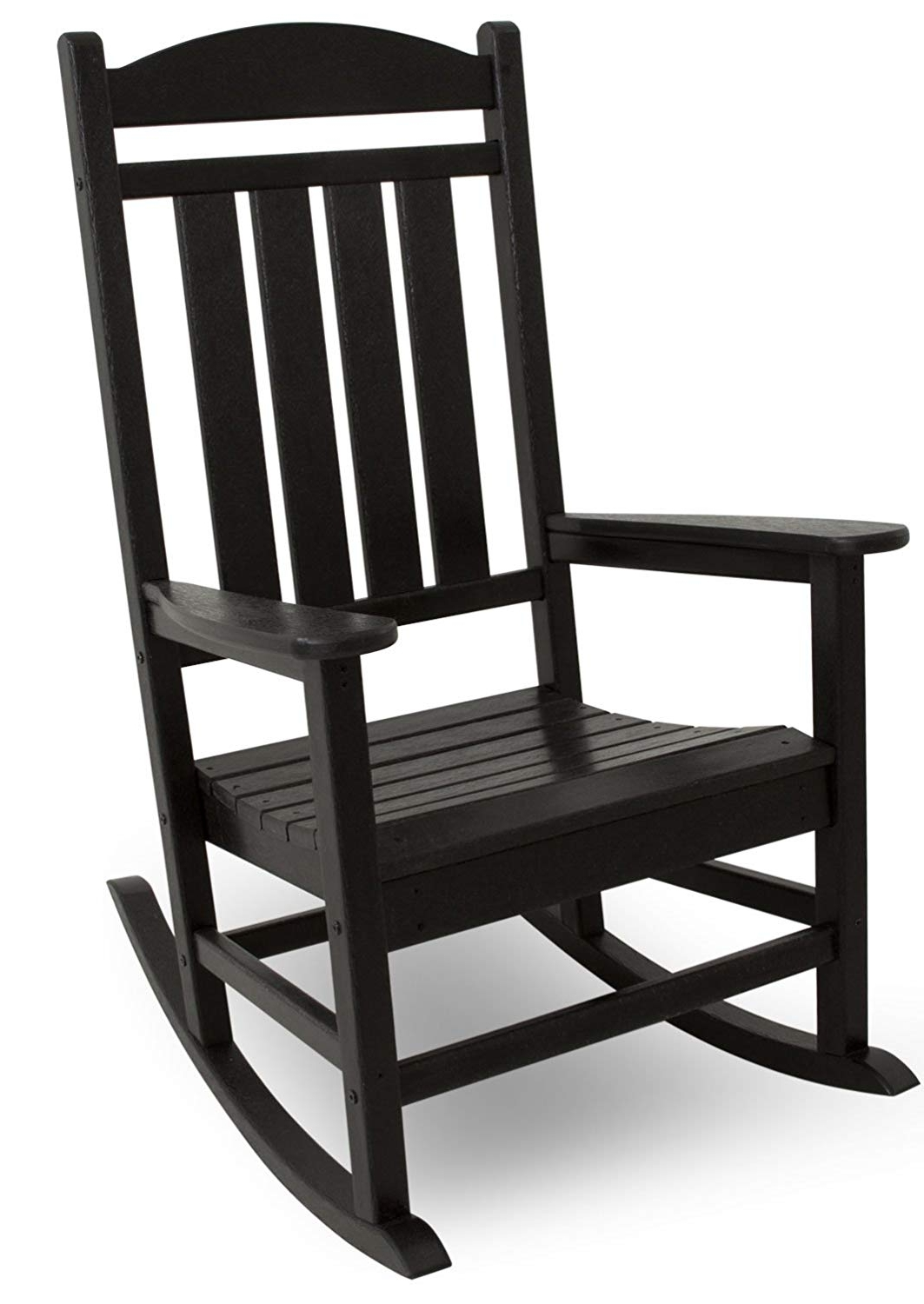 Patio Furniture Rocking Benches In Favorite Amazon : Polywood R100Bl Presidential Outdoor Rocking Chair (View 10 of 15)