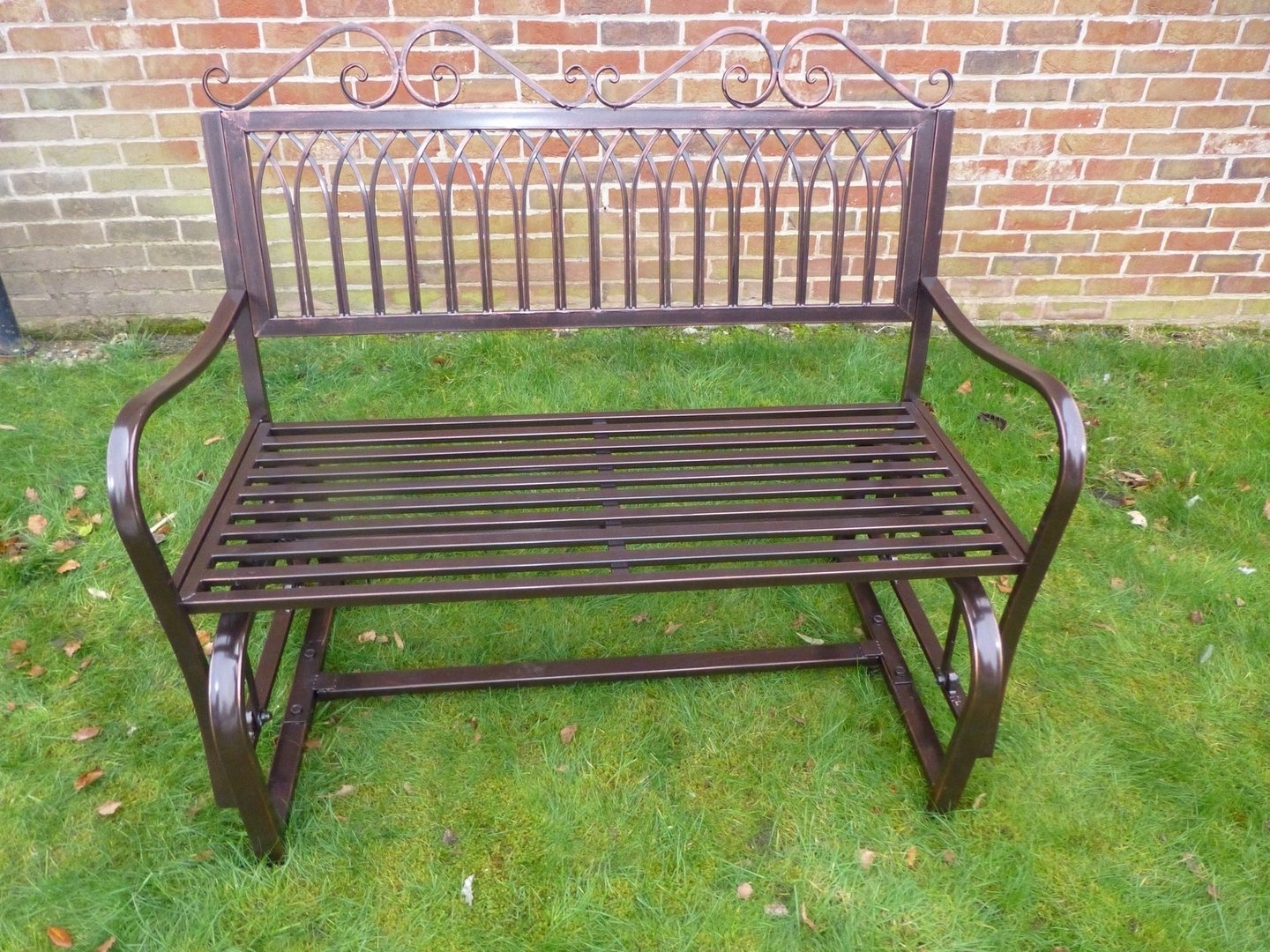Patio Furniture Rocking Benches With Well Liked Garden Furniture – Ornate Bronze Metal Rocking Bench – 2 Seater (View 13 of 15)