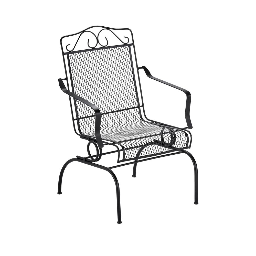 Patio Metal Rocking Chairs Within Most Current Nantucket Rocking Metal Outdoor Dining Chair 6991700 How To Make A (View 12 of 15)