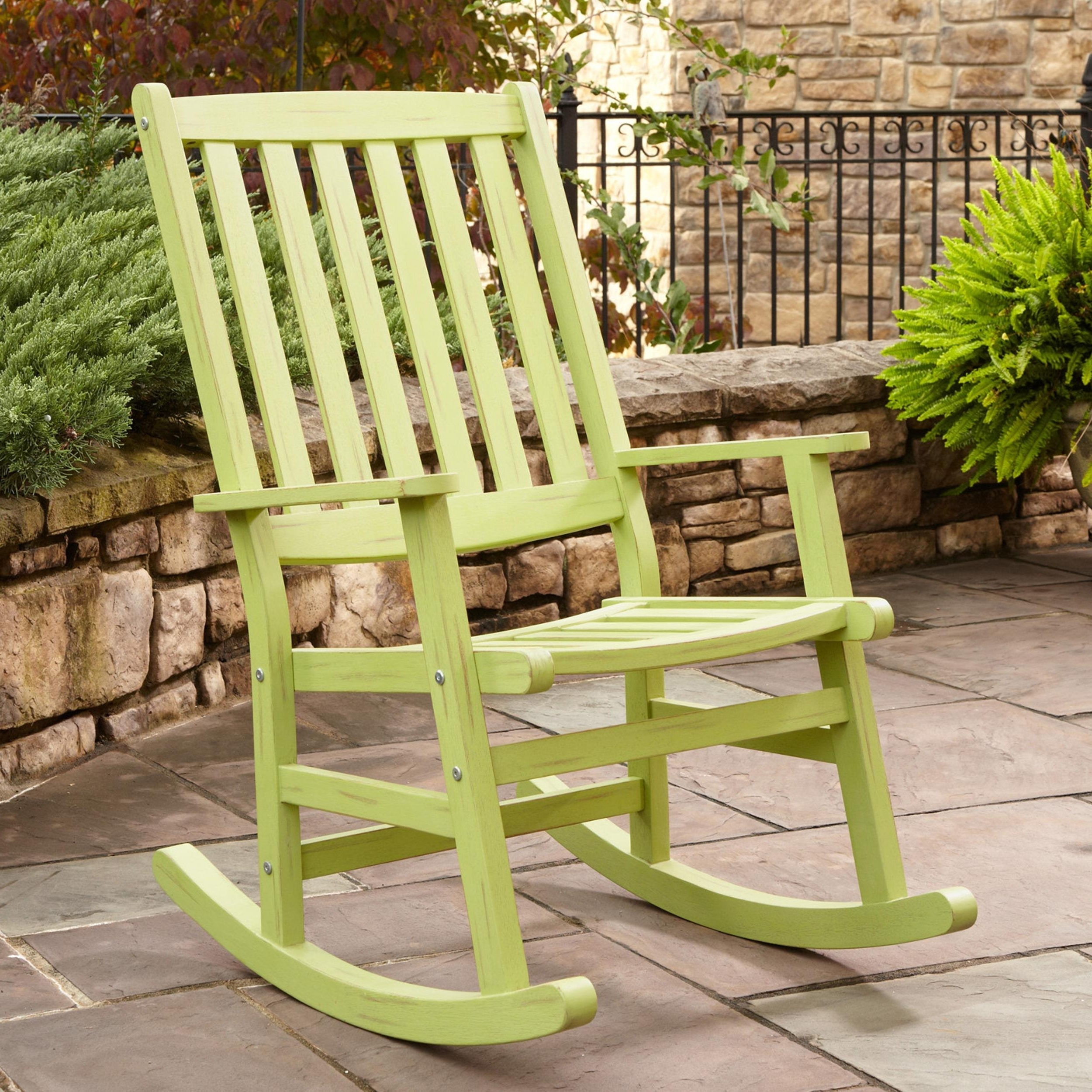 Patio Porch Rocking Chair — Wilson Home Ideas : Vintage Porch Pertaining To 2017 Small Patio Rocking Chairs (View 9 of 15)