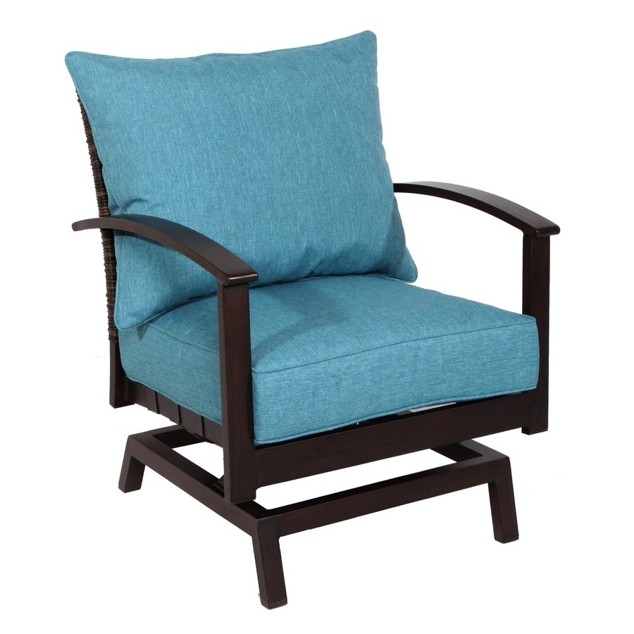 Patio Rocking Chairs With Ottoman For Preferred Shop Patio Chairs At Lowes (View 11 of 15)