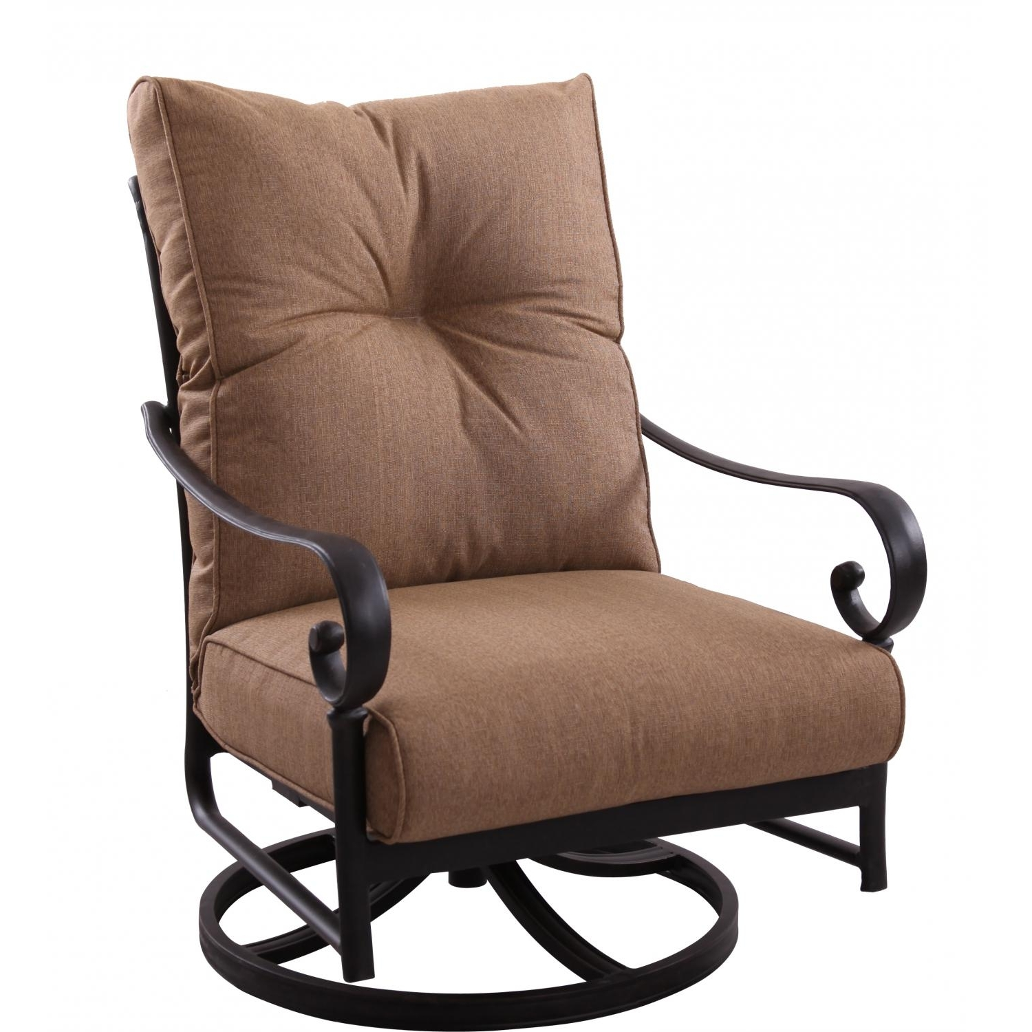 Patio Rocking Swivel Chairs In 2017 Darlee Santa Anita Swivel Rocker Club Chair – Cast Aluminum (View 3 of 15)