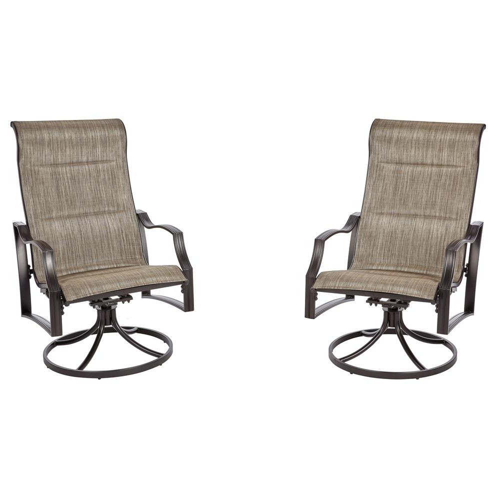Patio Sling Rocking Chairs Pertaining To Most Current Sling Patio Furniture – Patio Chairs – Patio Furniture – The Home Depot (View 7 of 15)