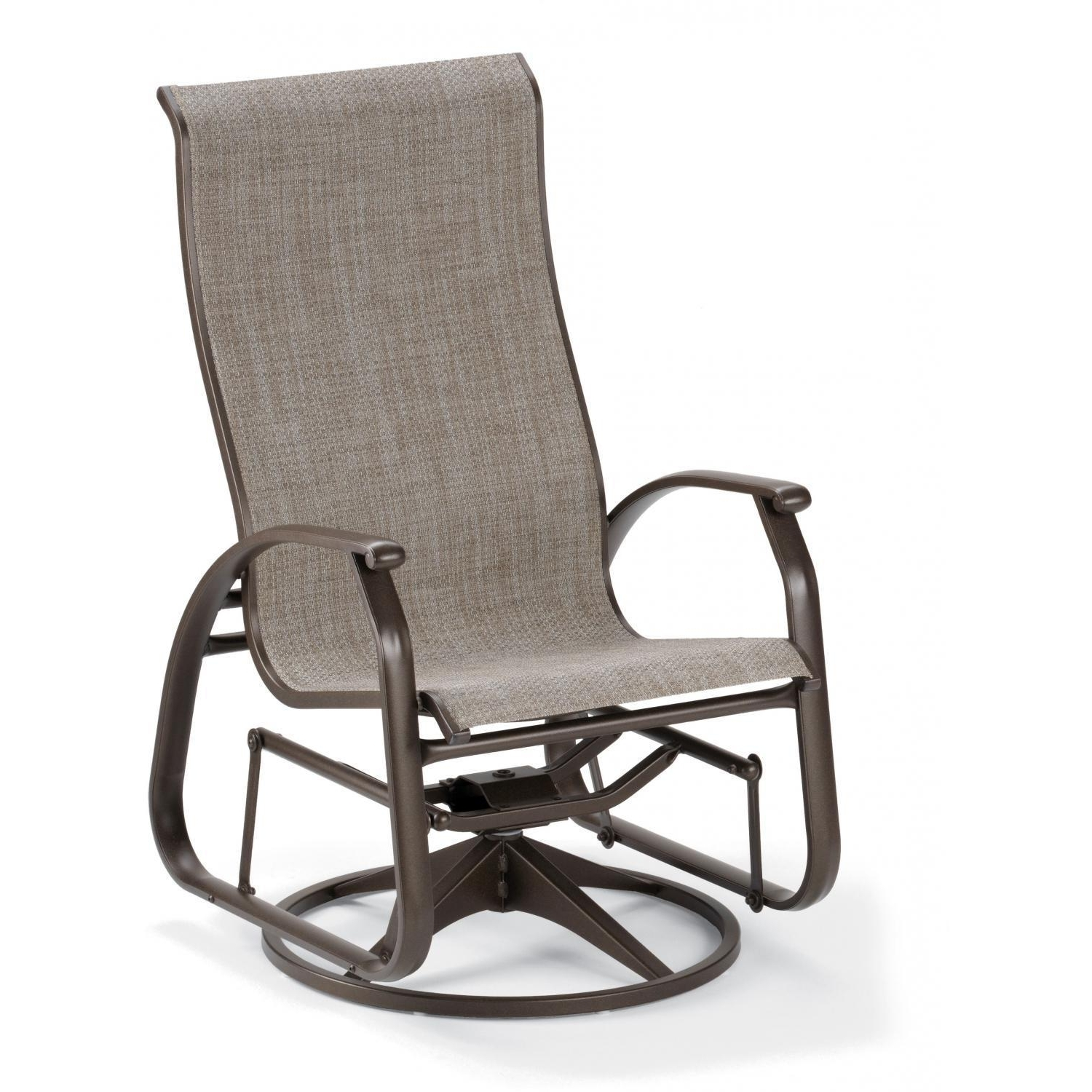 Patio Sling Rocking Chairs Pertaining To Trendy Telescope Casual Cape May Sling Patio Supreme Swivel Glider Dining (View 5 of 15)