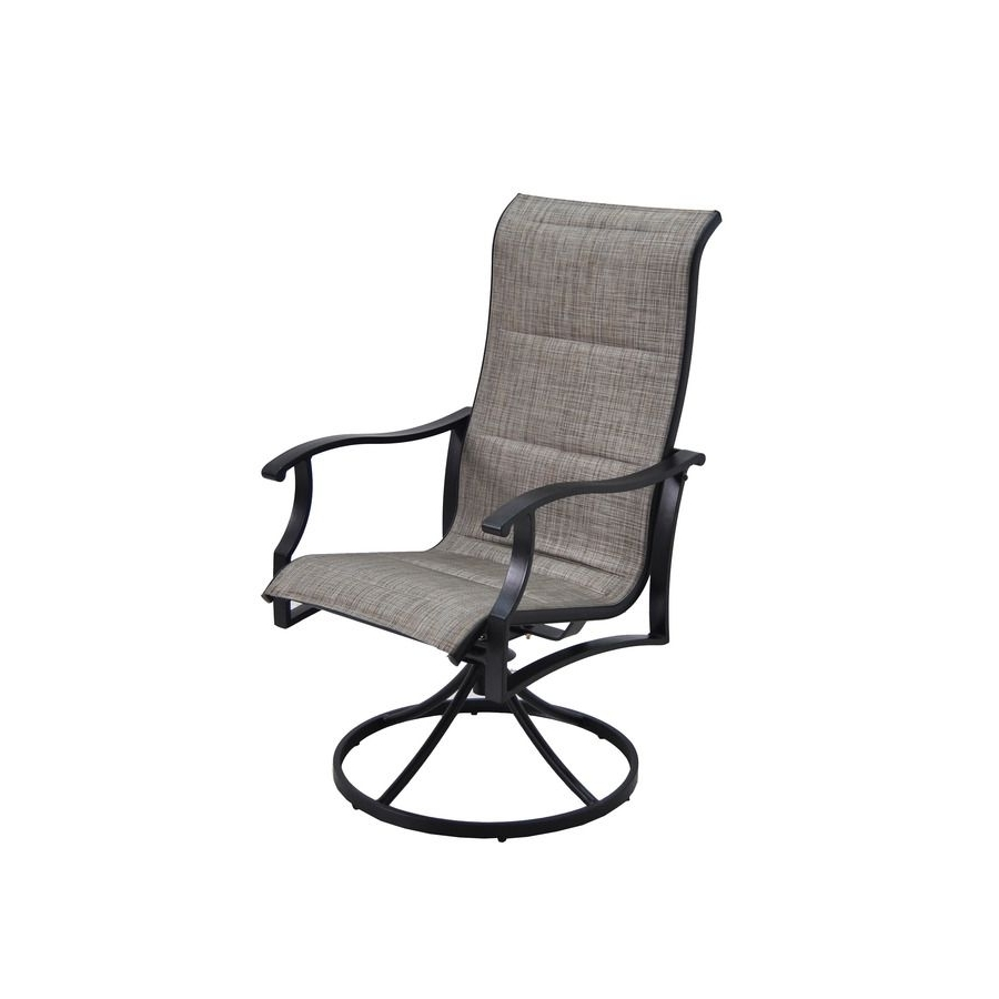 Patio Sling Rocking Chairs With Famous Garden Treasures Skytop 2 Count Black Steel Swivel Rocker Patio (View 15 of 15)