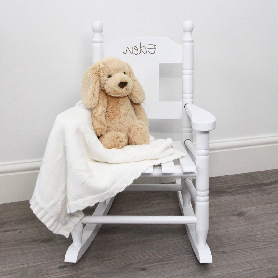 Personalised Child's Rocking Chairmy 1St Years With Regard To 2018 Rocking Chairs For Toddlers (View 12 of 15)