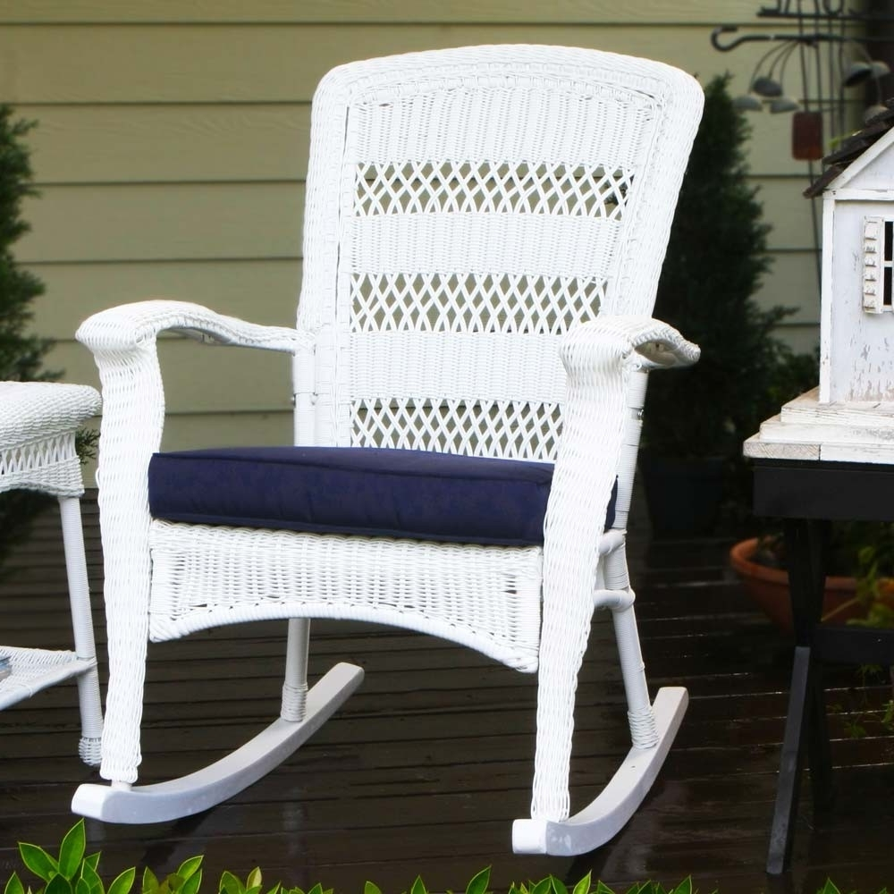 Plastic Patio Rocking Chairs For Preferred Outdoor Wicker Rocking Chairs – Wicker (View 4 of 15)