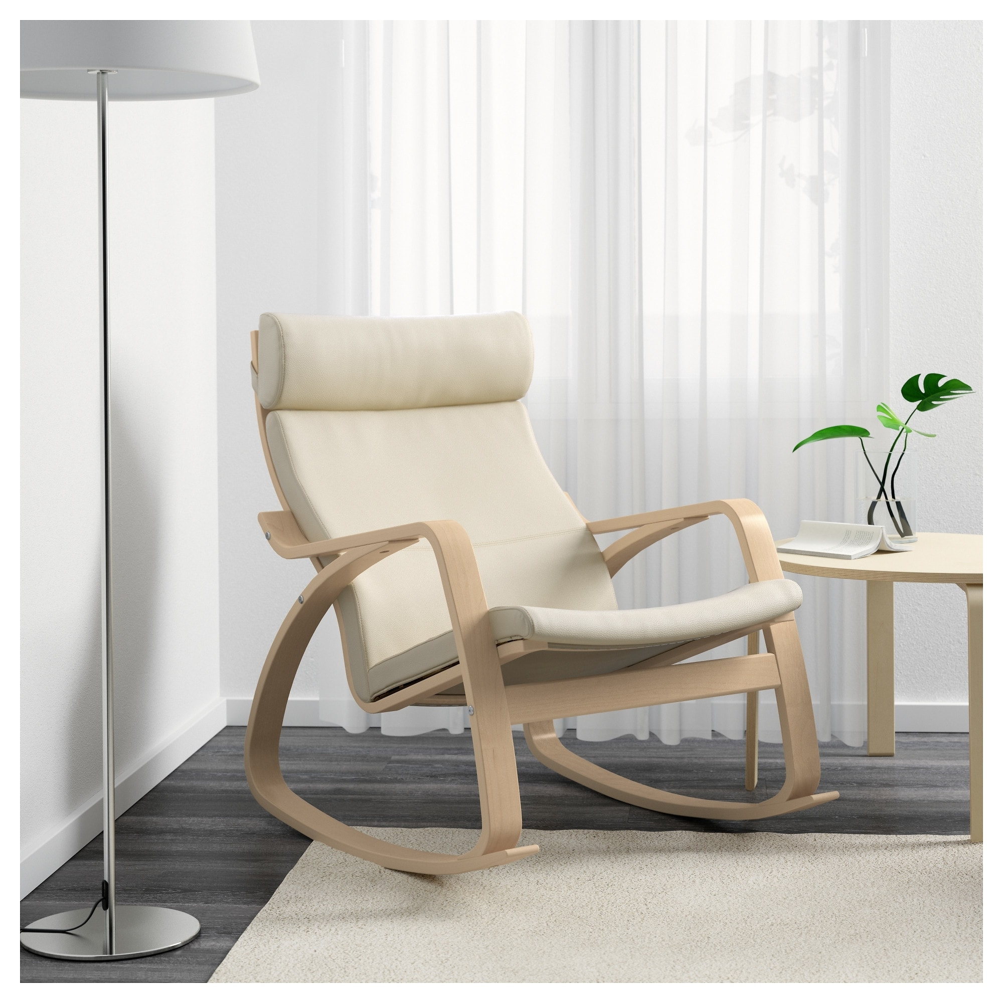 Poäng Rocking Chair Birch Veneer/glose Eggshell – Ikea With Regard To Favorite Rocking Chairs For Adults (View 6 of 15)