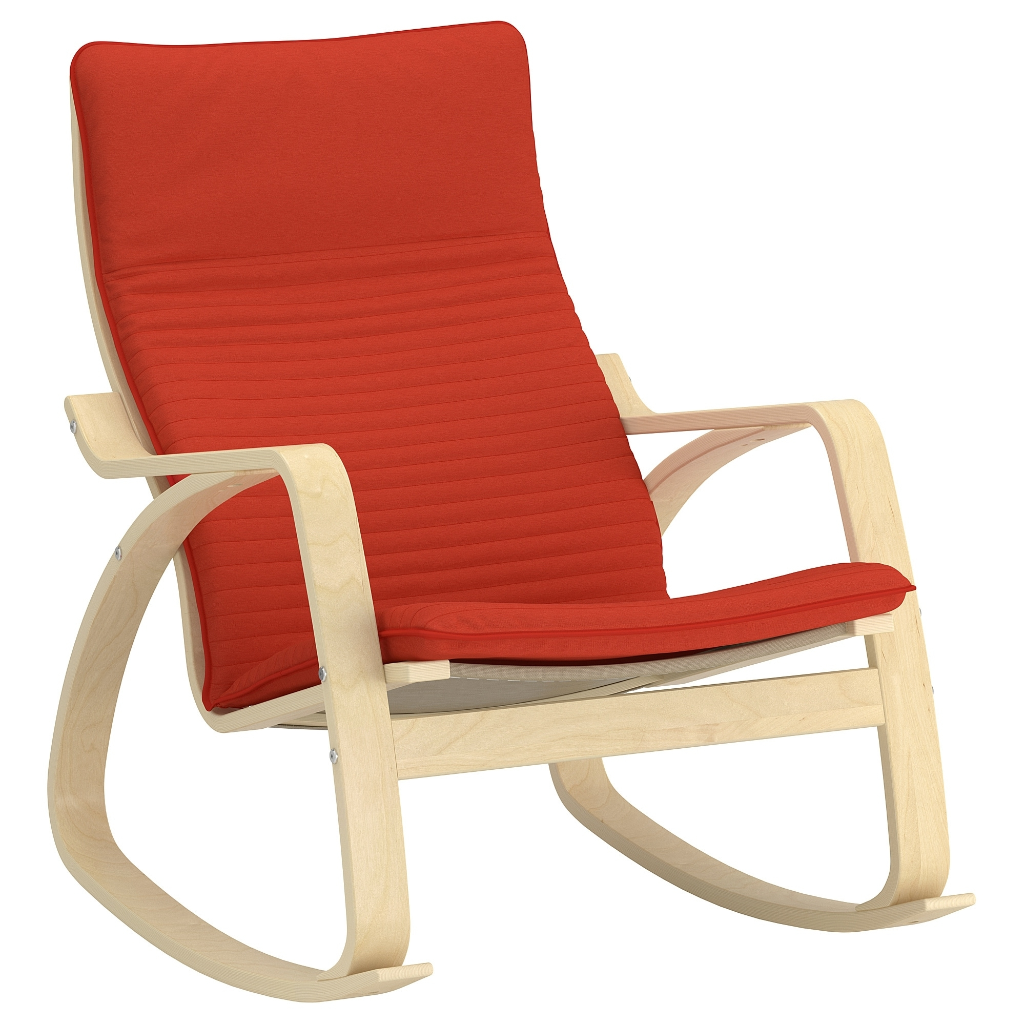 Poäng Rocking Chair – Knisa Red/orange – Ikea In Well Liked Ikea Rocking Chairs (View 10 of 15)