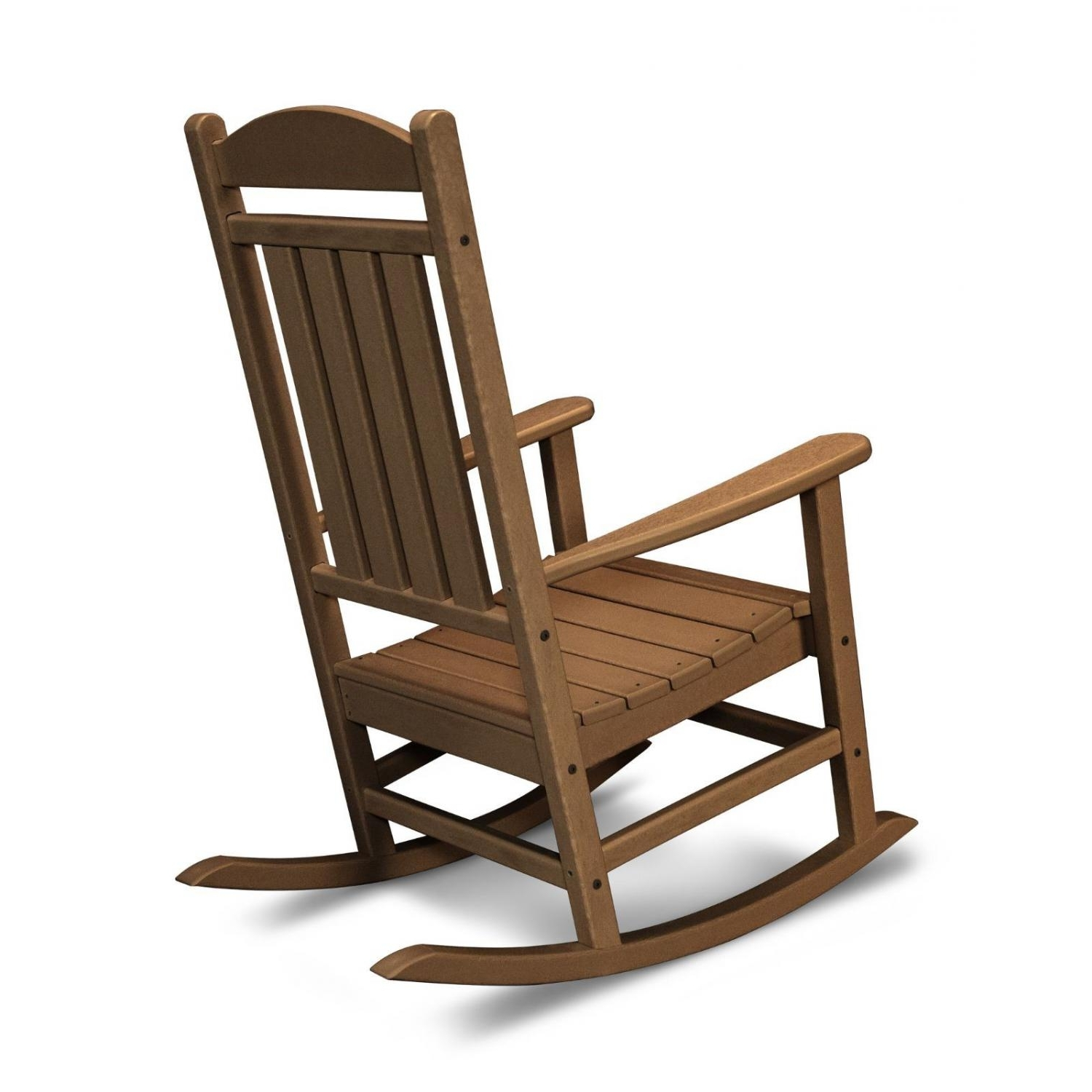 Polywood Presidential Recycled Plastic Wood Patio Rocking Chair In Latest Plastic Patio Rocking Chairs (View 14 of 15)