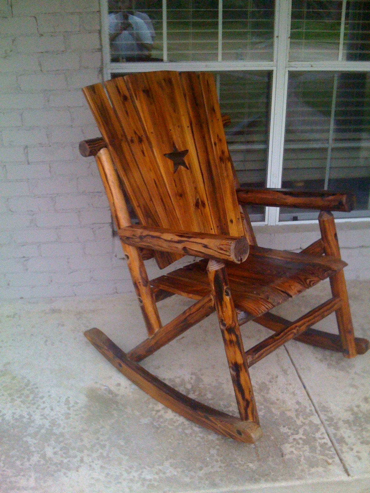 Popular Outdoor Wooden Rocking Chairs Rustic : Pleasure Outdoor Wooden In Unique Outdoor Rocking Chairs (View 6 of 15)
