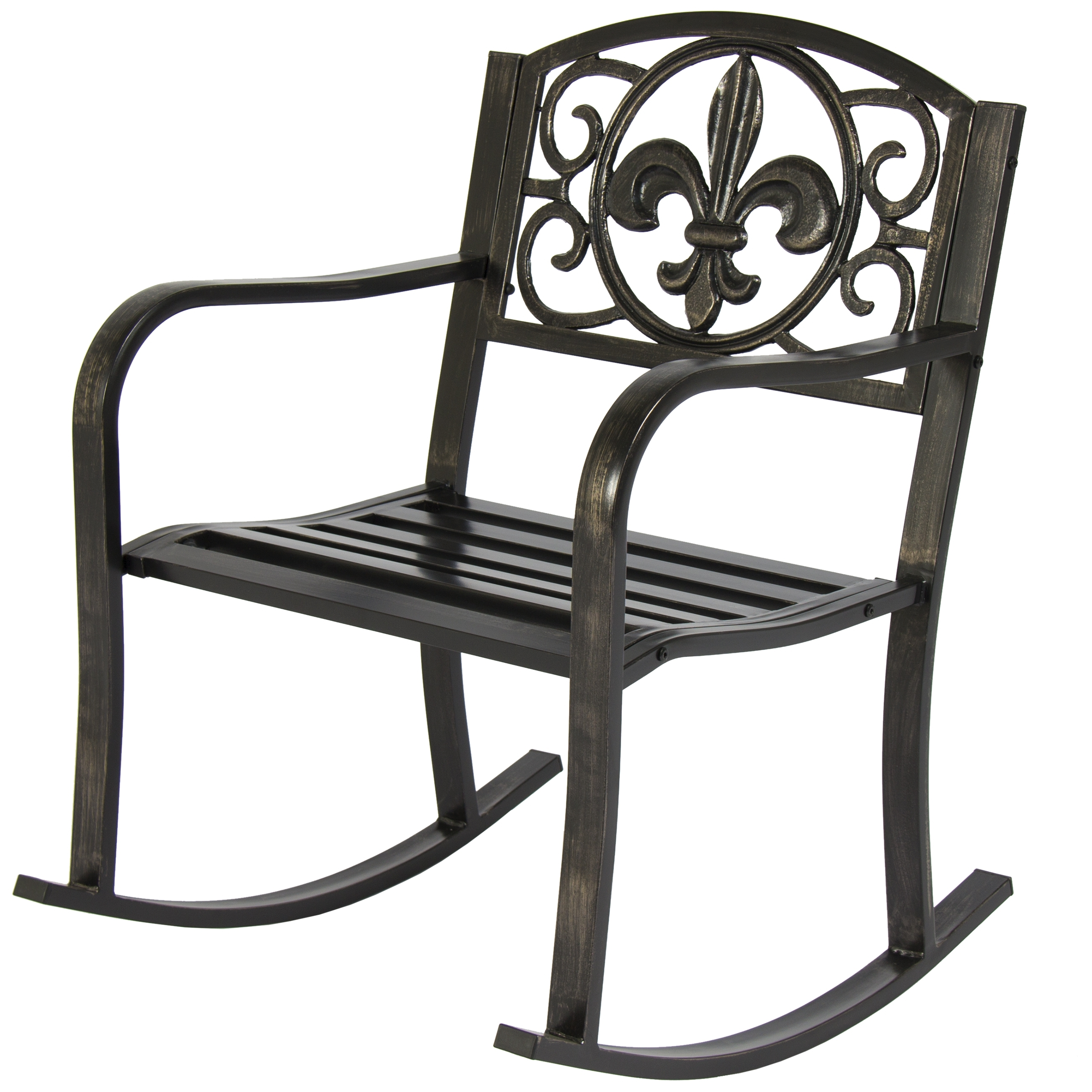Popular Patio Metal Rocking Chairs With Best Choice Products Metal Rocking Chair Seat For Patio, Porch, Deck (View 2 of 15)