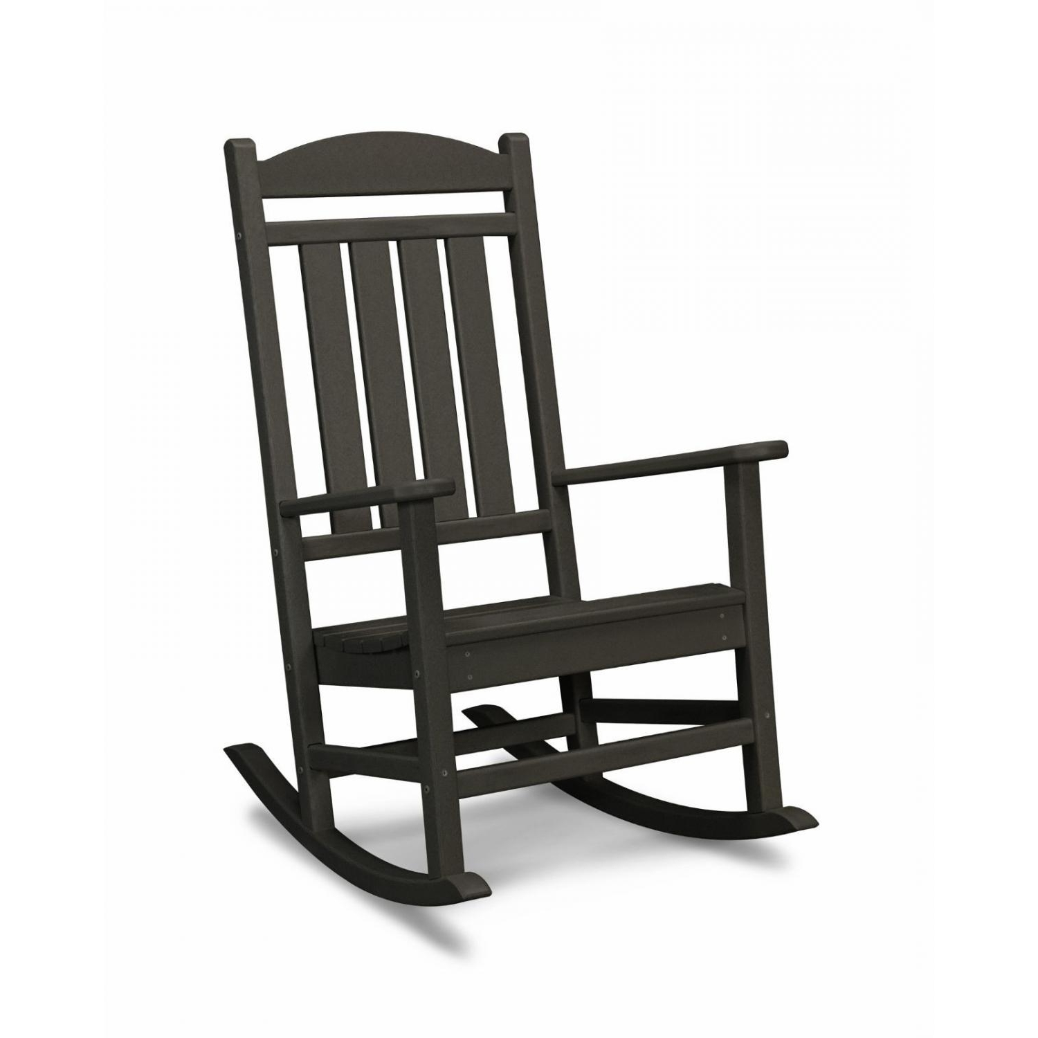 Popular Polywood Presidential Recycled Plastic Wood Patio Rocking Chair In Plastic Patio Rocking Chairs (View 10 of 15)
