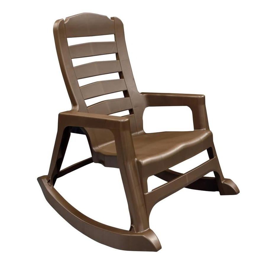 Popular Resin Patio Rocking Chairs Regarding Shop Adams Mfg Corp Stackable Resin Rocking Chair At Lowes (View 7 of 15)