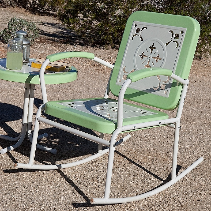 Popular Vintage Metal Rocking Patio Chairs Pertaining To Best Of Vintage Folding Lawn Chairs » Nonsisbudellilitalia (View 10 of 15)