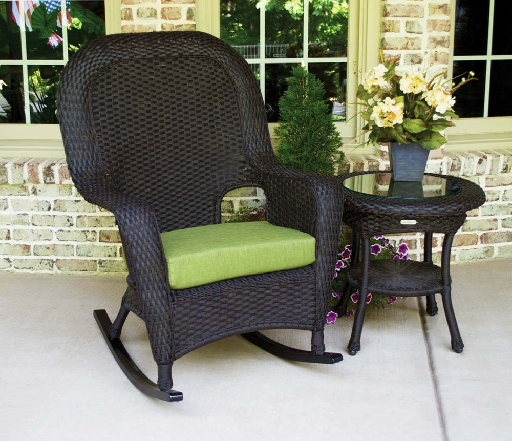 Preferred Rattan Outdoor Rocking Chairs Regarding Outdoor Wicker Rocking Chairs Colors White Modern Furniture Hickory (View 8 of 15)