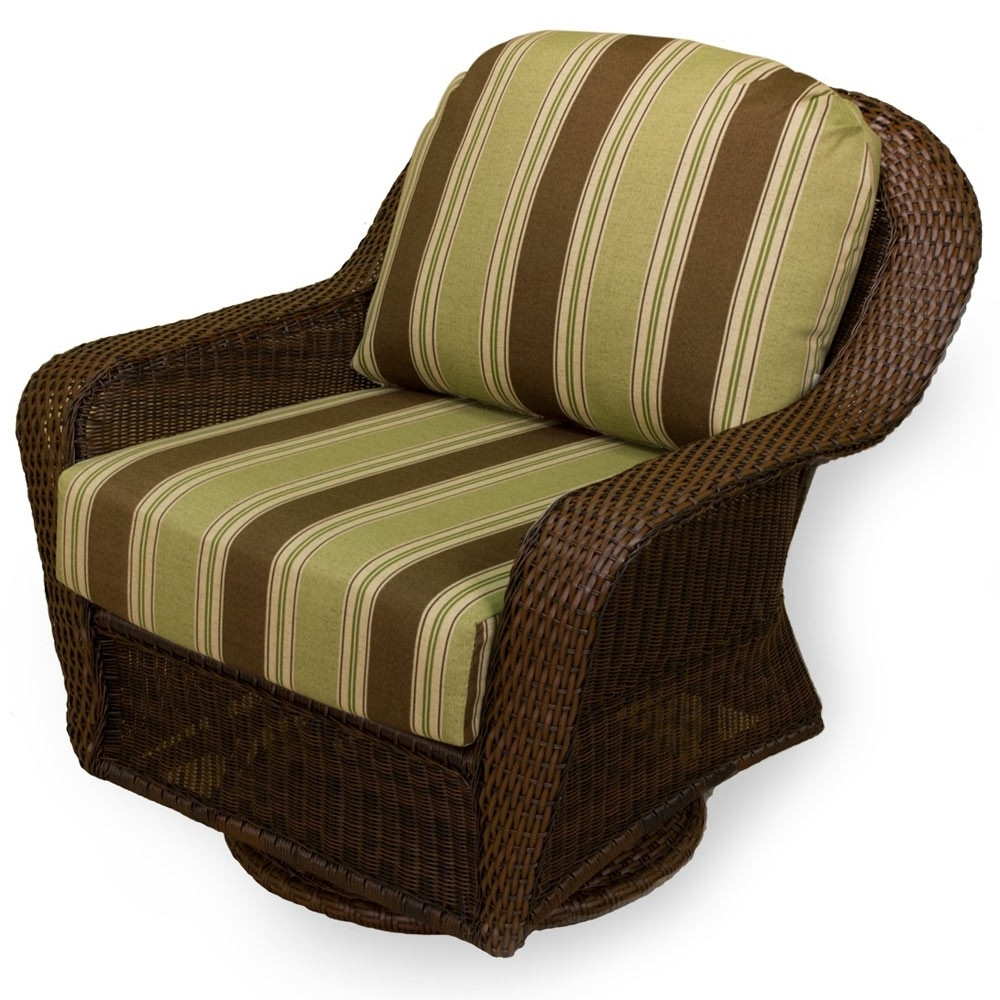 Preferred Tortuga Outdoor Lexington Wicker Swivel Glider – Wicker Inside Patio Rocking Chairs And Gliders (View 9 of 15)