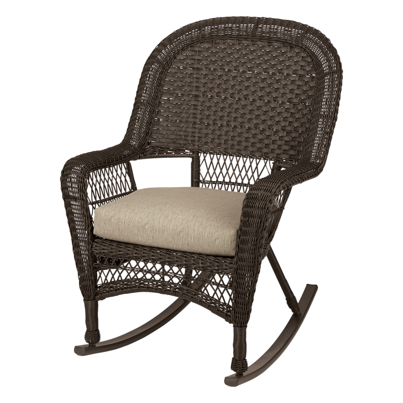 Rattan Chair Wicker Furniture Resin Wicker Rocking Chairs With Regard To Current Resin Patio Rocking Chairs (View 8 of 15)