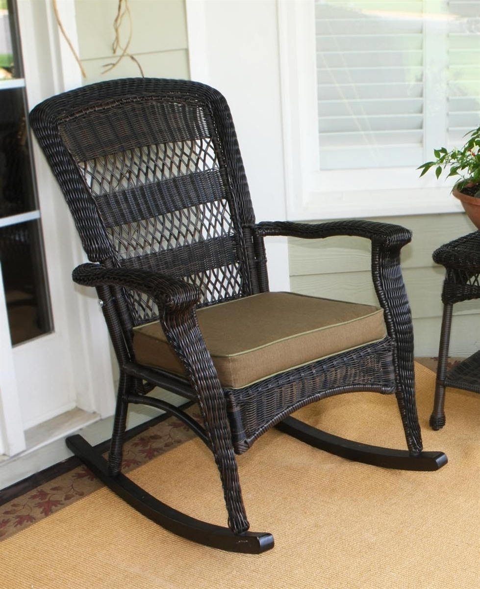 Rattan Outdoor Rocking Chairs With Regard To 2018 Chair (View 5 of 15)