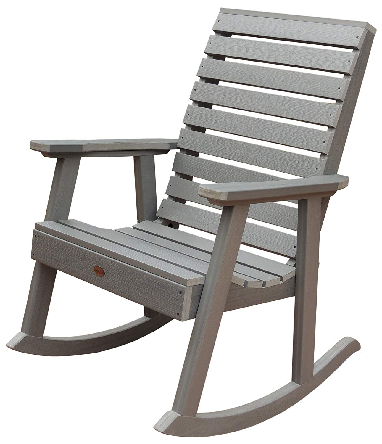Recent Amazon : Highwood Weatherly Rocking Chair, Coastal Teak : Garden For Rocking Chairs For Porch (View 11 of 15)