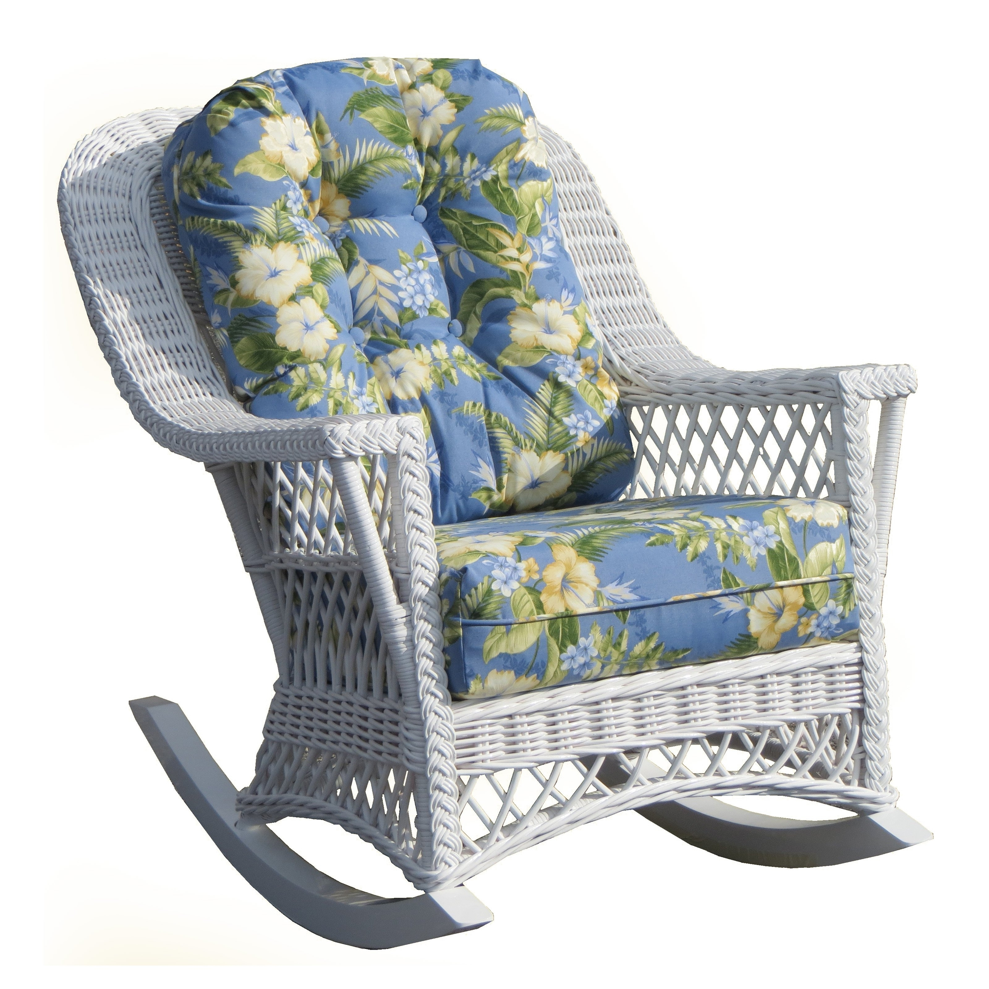 Recent Country Wicker Rocking Chair – Indoor/covered Porch (View 13 of 15)