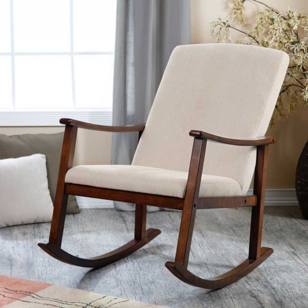 Recent Furniture: Furniture Interesting Oak Wood Target Rocking Chair With Throughout Rocking Chairs With Cushions (View 9 of 15)