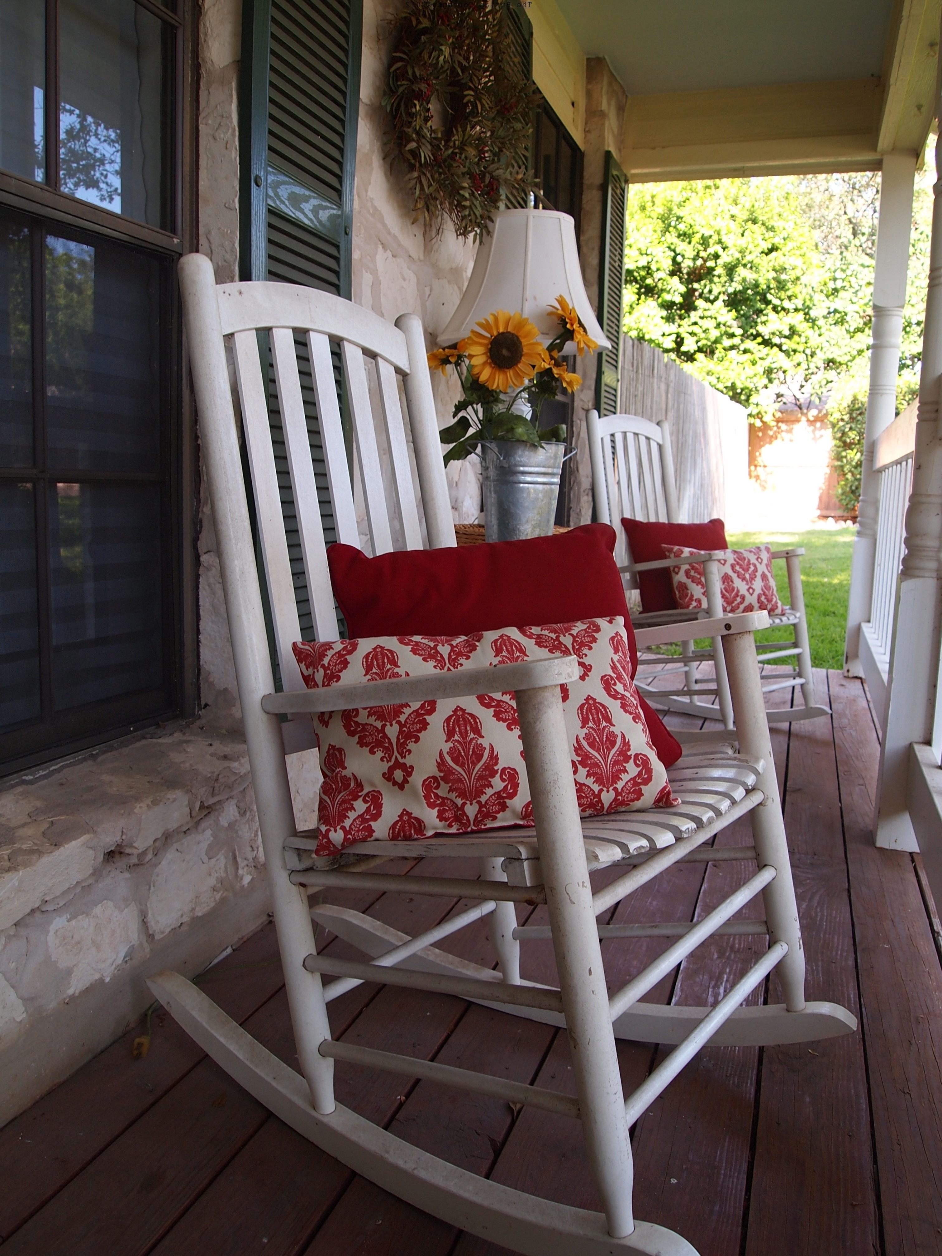 Recent Height Back White Oak Wood Porch Rocking Chairs Which Slicked Up With Regard To Rocking Chairs For Front Porch (View 8 of 15)