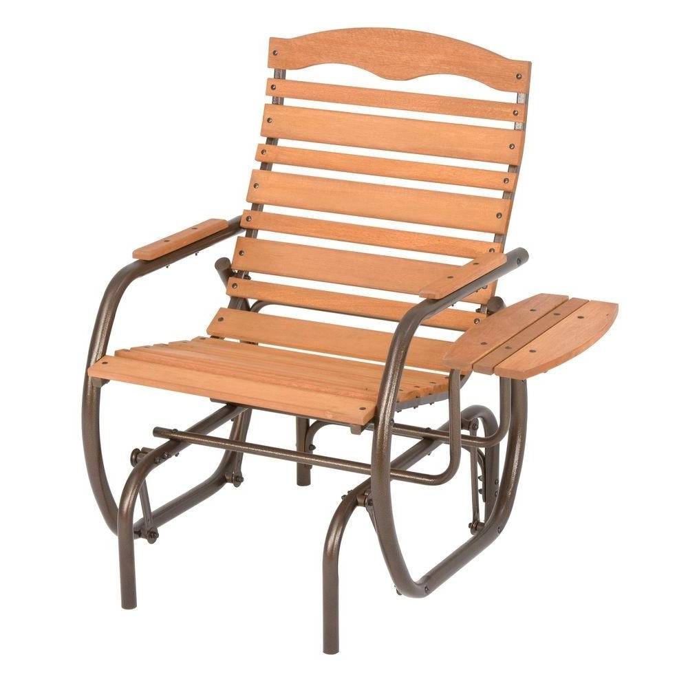 Recent Jack Post Country Garden Natural Glider Chair With Tray Cg 21z – The Regarding Patio Rocking Chairs And Gliders (View 3 of 15)