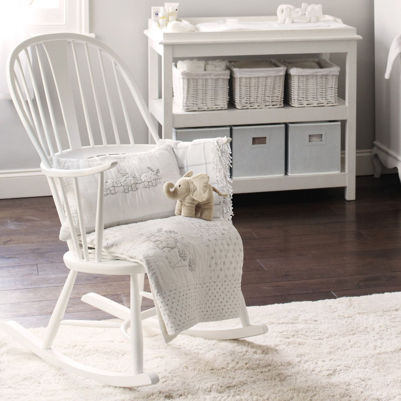 Recent Rocking Chairs For Baby Room For Buy Lookbooks > Home > Ercol Rocking Chair – White From The White (View 4 of 15)