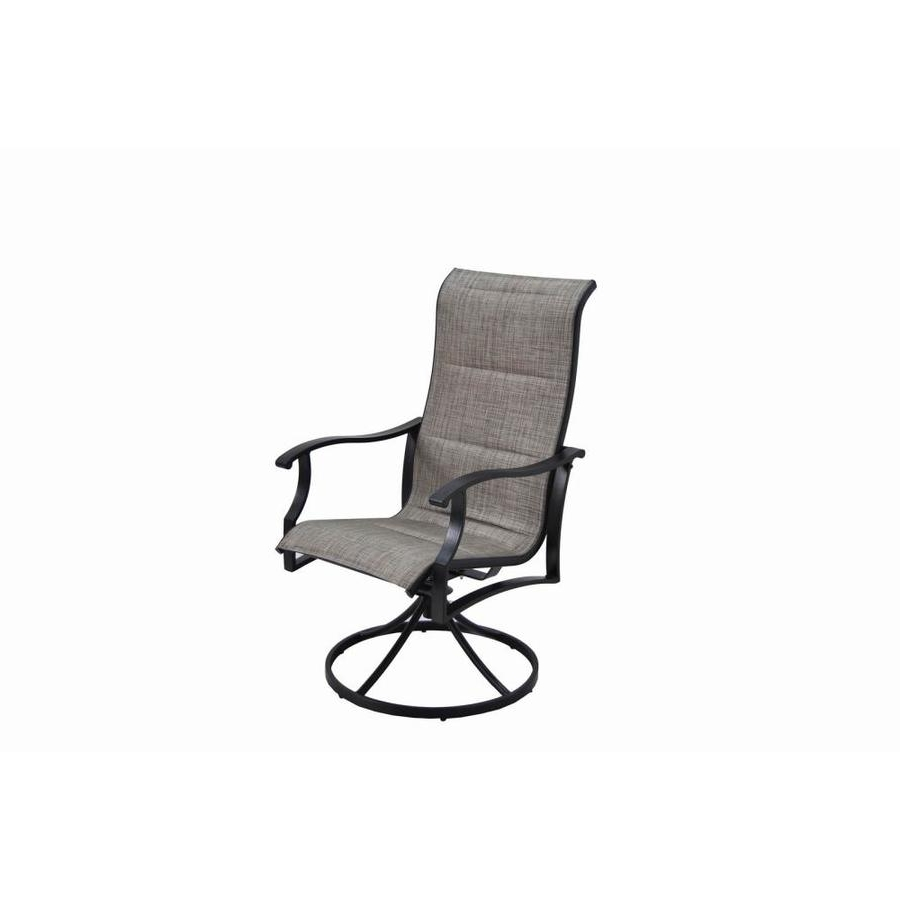 Recent Shop Garden Treasures Skytop 2 Count Black Steel Swivel Rocker Patio Throughout Patio Rocking Swivel Chairs (View 15 of 15)