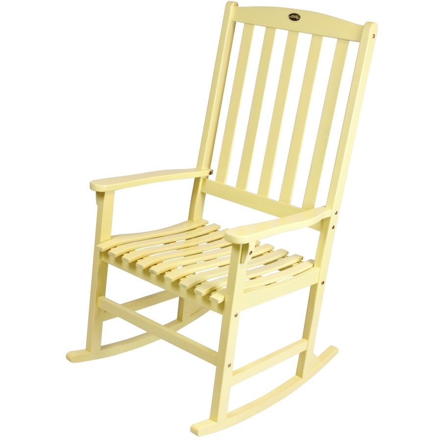 Recent Shop Yellow Wood Slat Seat Outdoor Rocking Chair At Lowes Within Yellow Outdoor Rocking Chairs (View 9 of 15)