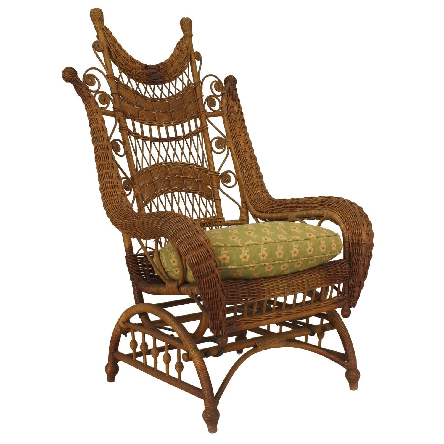 Recent Victorian Rocking Chairs Inside Ornate Wicker Platform Rocking Chair For Sale At 1Stdibs (View 6 of 15)