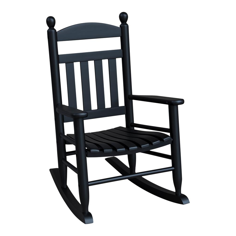Recent Youth Slat Black Wood Outdoor Patio Rocking Chair 201sbf Rta – The Regarding Patio Rocking Chairs With Covers (View 2 of 15)